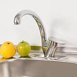 Смеситель для кухни на гайке U образный 153600803 Lidz, фото 3