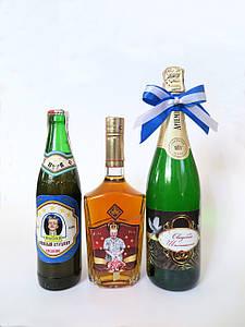 Этикетки,  дизайн бутылок