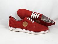Мужские красные туфли нубук San Marina р-42