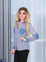 Рубашка (42, 44, 46, 48) —стрейч-коттон купить оптом и в Розницу в одессе 7км