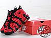 Мужские кроссовки реплика Nike Air More Uptempo QS Black/Red Infrared 819151-001, фото 4