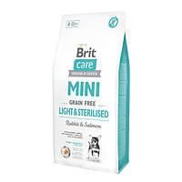Brit Care GF Mini Light&Sterilised Корм для собак с избыточным весом или стерилизованных собак, 7 кг