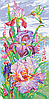 Схема для вышивки бисером цветы Яркие ирисы