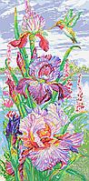 Схема для вышивки бисером цветы Яркие ирисы , фото 1