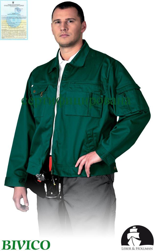 Куртка прочная рабочая зеленая Lebber&Hollman Польша (спецодежда мужская) LH-WILSTER Z