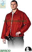 Куртка рабочая устойчива к стиранию красная Lebber&Hollman Польша (одежда для работников) LH-WILSTER C