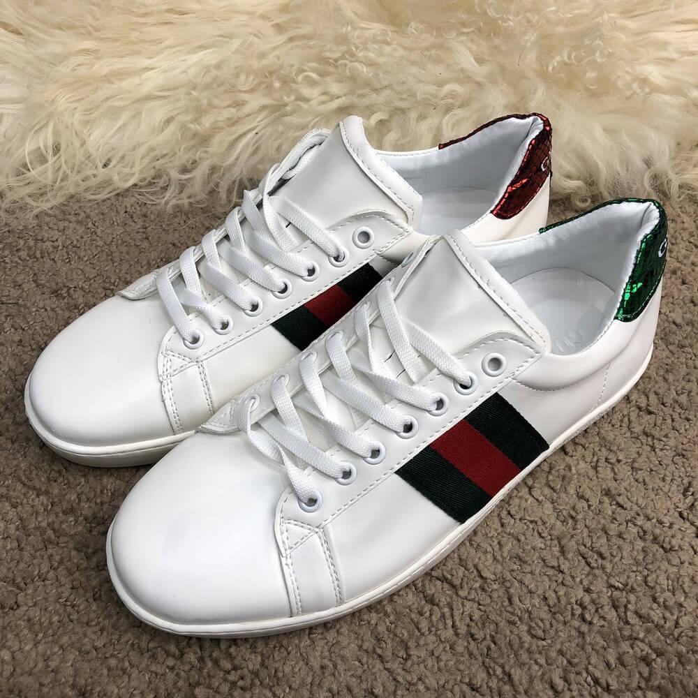 Мужские кеды Gucci Web Sneaker White, Копия