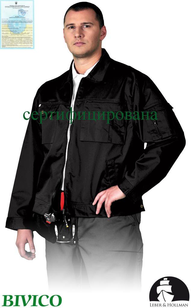 Куртка прочная рабочая черная Lebber&Hollman Польша (рабочая одежда) LH-WILSTER B