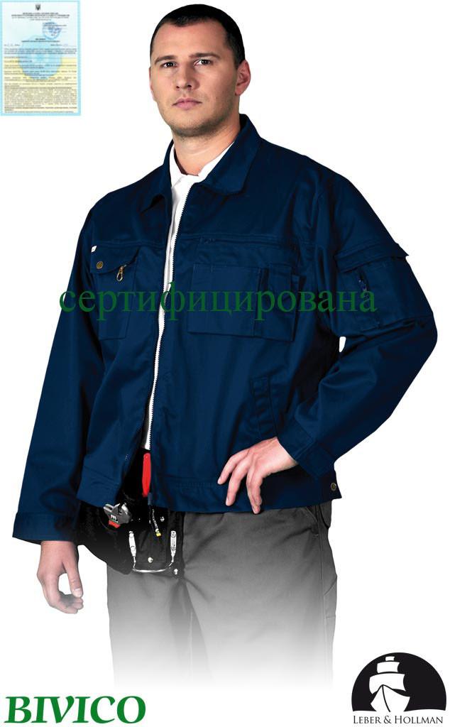 Куртка рабочая темно-синяя Lebber&Hollman Польша (одежда для строительных работ) LH-WILSTER G