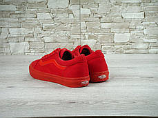 Женские кеды Vans Old Skool Crimson, Ванс Олд Скул, фото 2