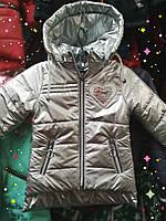 СЕРЕБРО,ЗОЛОТО Демисезонная куртка для девочки 1,2,3 года