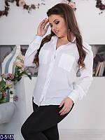 Блузка (50, 52, 54, 56) — креп купить оптом и в Розницу в одессе 7км 50