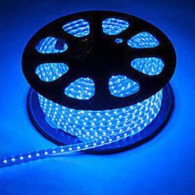 Светодиодная лента синяя SMD 2835/120 220V IP68 (1м) Код.59220