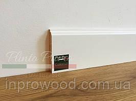 Плинтус белый деревянный Колониал 80мм 8 см