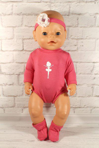 Бодик комплект для куклы Baby Born