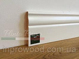 Білий високий плінтус з дерева Класік 10 см