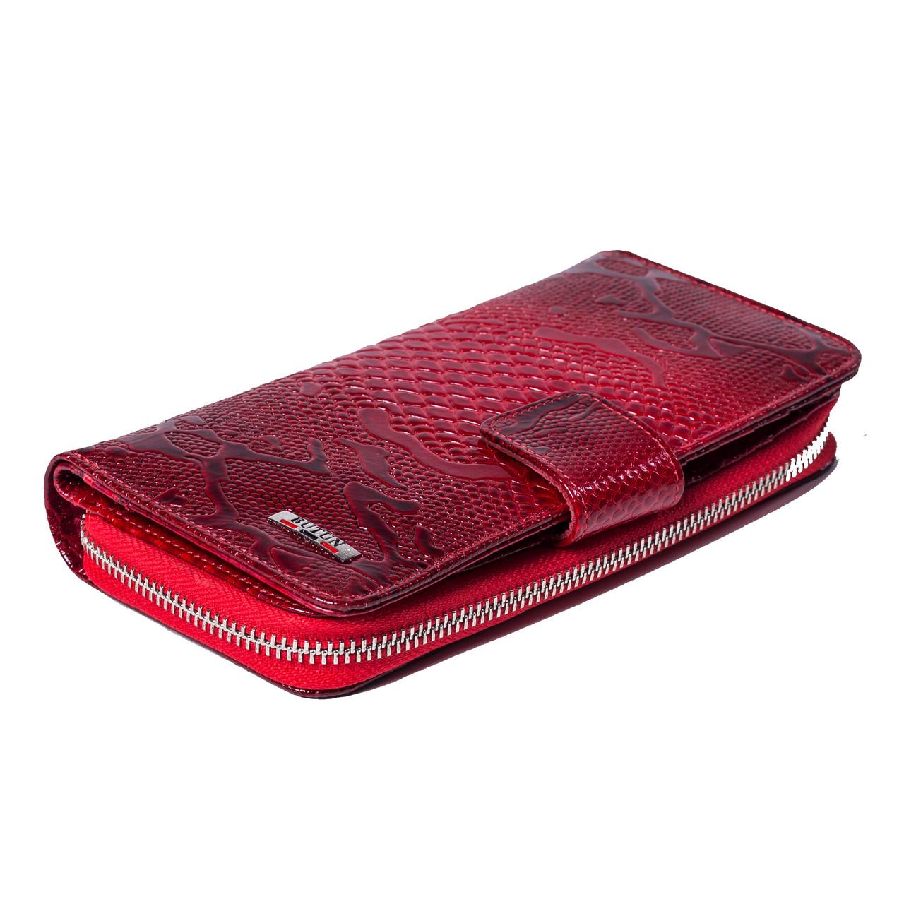 Женский кошелек кожаный красный BUTUN 636-008-006