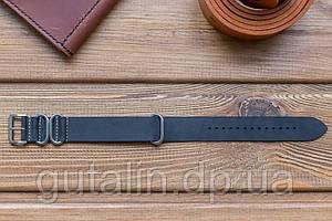 Кожаный ремешок для часов Bros цвет черный