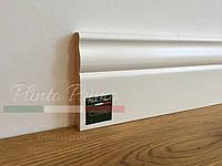 Белый высокий плинтус деревянный Классик 12 см