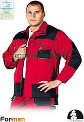Куртка FORMEN рабочая прочная красная Lebber&Hollman Польша (униформа рабочая) LH-FMN-J CBS
