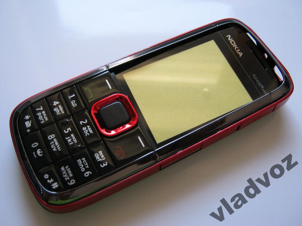 Корпус для Nokia 5130 красный  клавиатура class 2A