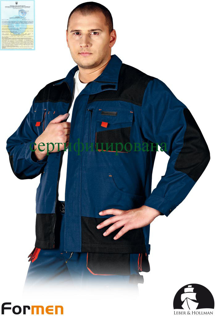 Куртка FORMEN рабочая комфортная синяя Lebber&Hollman Польша (одежда для работы) LH-FMN-J GBC