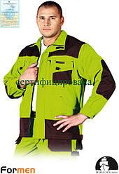 Куртка FORMEN рабочая качественная лимонная Lebber&Hollman Польша (рабочая форма) LH-FMN-J LBR