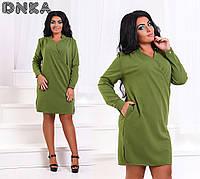 Платье- туника с карманами (5 цвета), фото 1