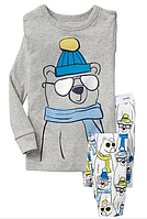 Пижама Bear Gap для мальчика серый 3Т/93-98 см Для мальчиков, 4Т,