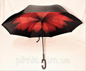 Зонт обратного сложения. Зонт наоборот. Умный зонт от дождя.