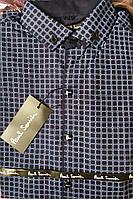 Модная рубашка для подростка синего цвета, фото 1