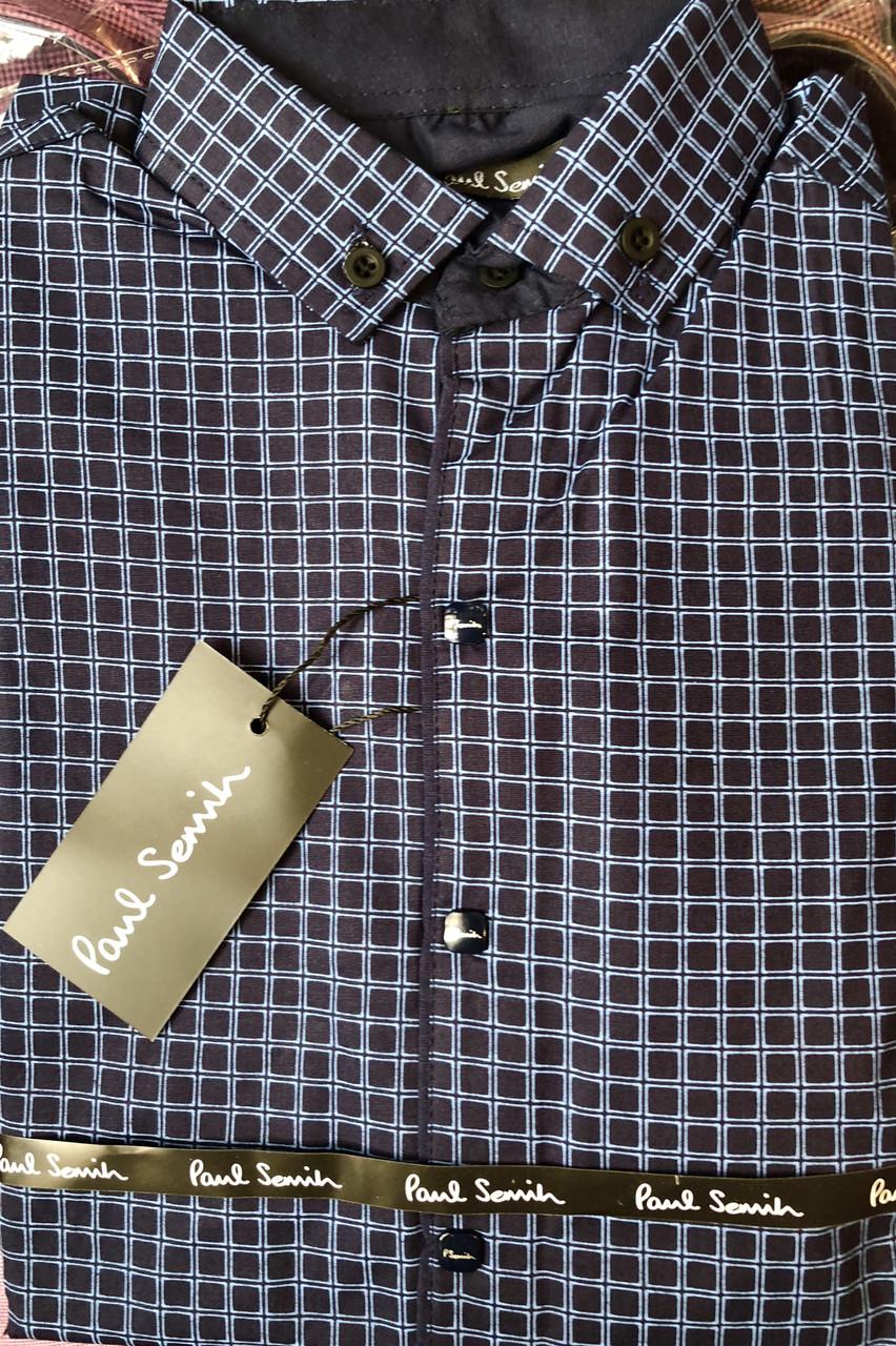 08d76db02348a3f Модная рубашка для подростка синего цвета, цена 270 грн., купить в ...