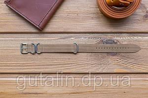 Кожаный ремешок для часов Bros цвет дерево