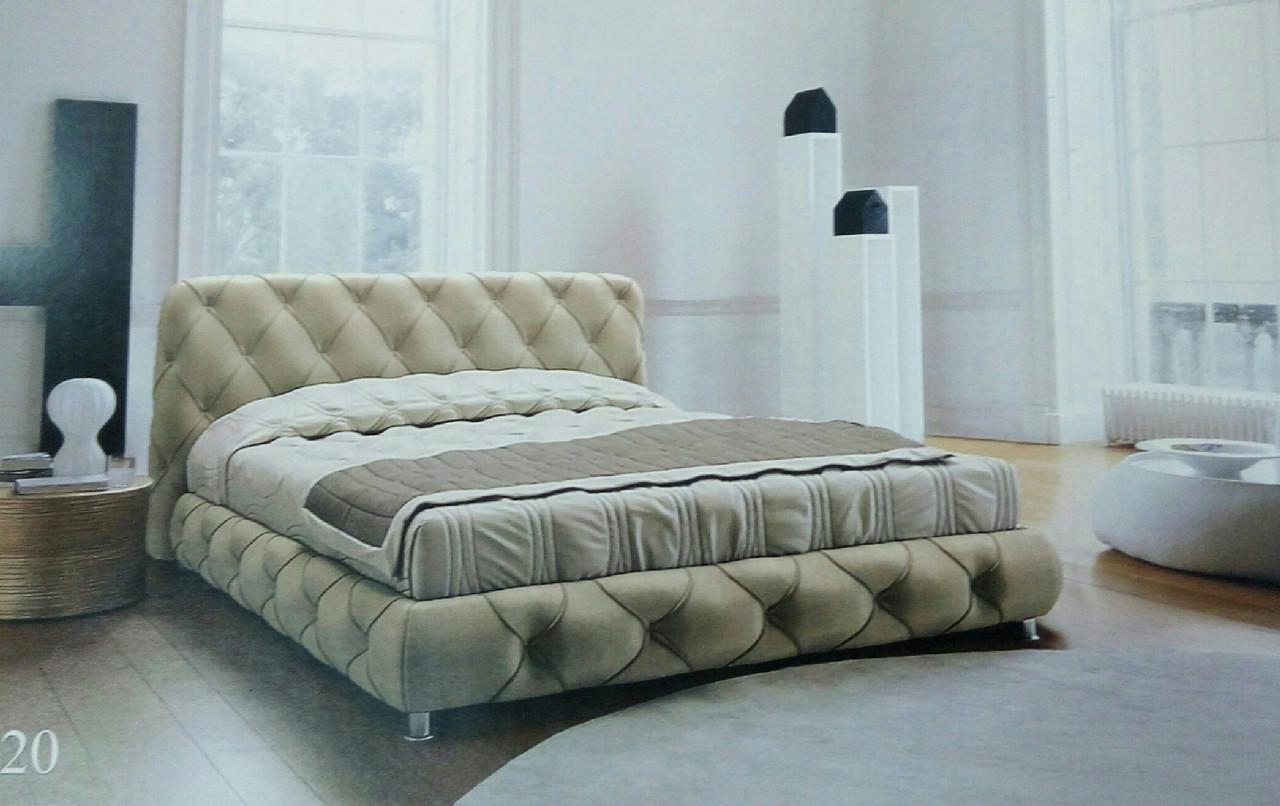 Кровать двуспальная Люкс Сиенна без матраса с ящиком для белья