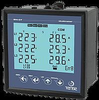 Мультиметр трехфазный врезной - измерение напряжения, тока, частоты и мощности Вольт Ампер Ватт Герц метр