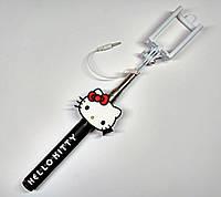 Монопод селфи-палка, Hello Kitty, черная