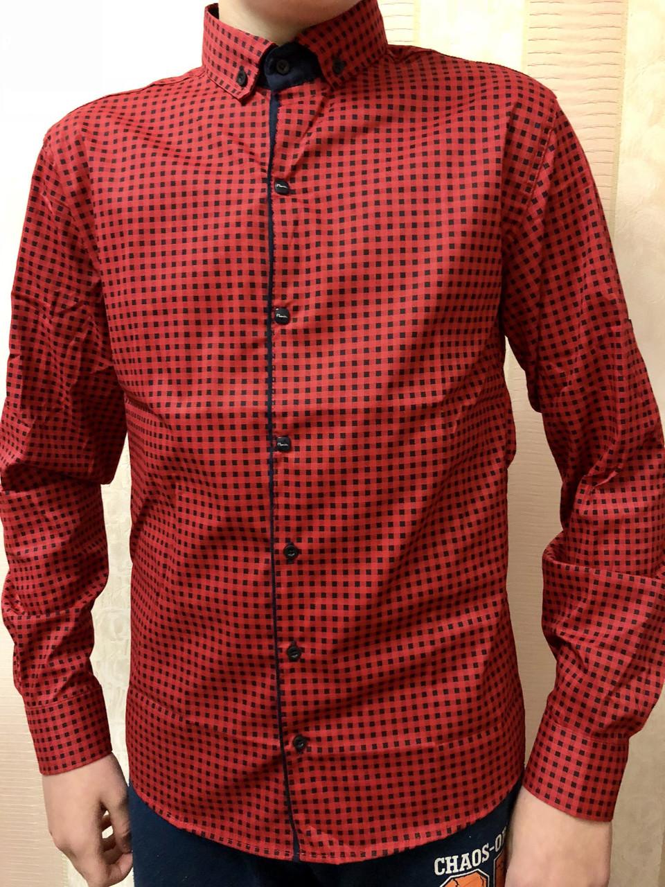 Рубашка для подростка в клетку, фото 1