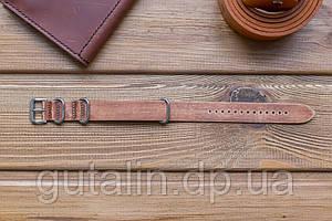 Шкіряний ремінець для годинника Bros колір потерта шкіра