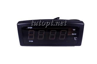 Электронный будильник Caixing - CX-818 в розетку 220V + Температура