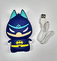 Портативная батарея Power Bank Бэтмен синий 8800 mAh