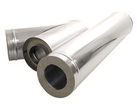 Труба для твердотопливных котлов дымоходная с термоизоляцией диаметр 120мм 1 мм толщина стенки
