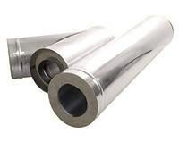 Труба для твердотопливных котлов дымоходная с термоизоляцией диаметр 120мм 1 мм толщина стенки, фото 2