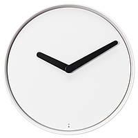 """ИКЕА """"СТОЛПА"""" Настенные часы с неоновой подсветкой, белые, 32 см."""