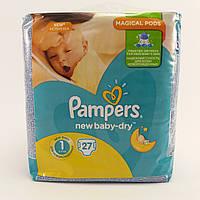 Подгузник детский Pampers active new baby-dry 1, 2-5кг 27шт