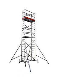Вышка-тура KRAUSE Clim Tec (1 надстройка) строительная передвижная на колесах алюминиевая ( алюминий )