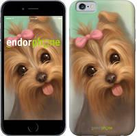 """Чехол на iPhone 6s Нарисованный йоркширский терьер """"928c-90-571"""""""
