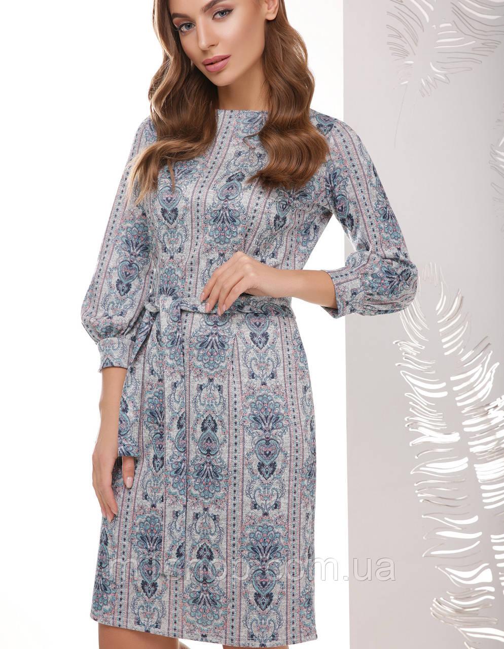 Женское ангоровое платье с узором(1764mrs)