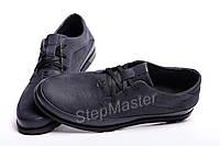 Кожаные мужские туфли Tommy Hilfiger Blue, фото 1