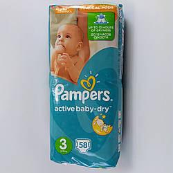 Подгузник детский Pampers active baby-dry 3, 5-9кг 58шт