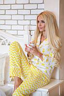НОВИНКА КОЛЛЕКЦИЯ ОДЕЖДЫ ДЛЯ ДОМА! Уютная, женская пижама рубашка + штаны (100% хлопок) 42-60р РАЗНЫЕ ПРИНТЫ